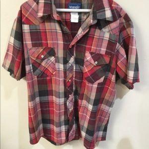 Men's Wrangler plaid XL shirt